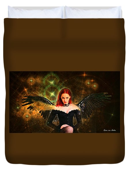 Duvet Cover featuring the digital art Star Angel  by Riana Van Staden