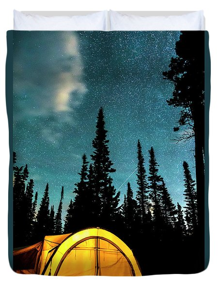 Duvet Cover featuring the photograph Star Camping by James BO Insogna