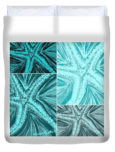 Starfish Pop Art Duvet Cover