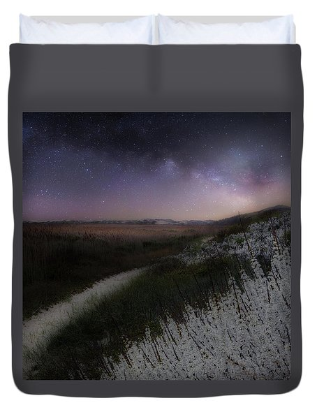 Duvet Cover featuring the photograph Star Flowers Square by Bill Wakeley