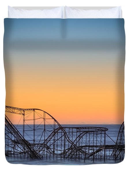 Star Jet Roller Coaster Ride  Duvet Cover