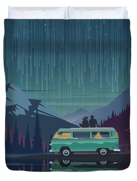 Star Light Vanlife Duvet Cover