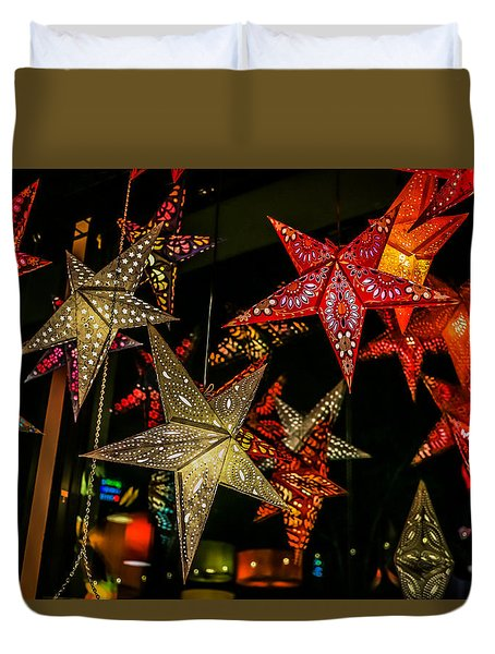 Duvet Cover featuring the photograph Star Lights by Lora Lee Chapman