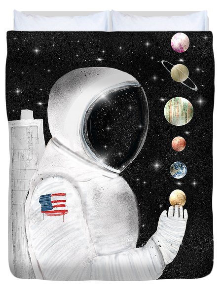 Duvet Cover featuring the painting Star Man by Bri B