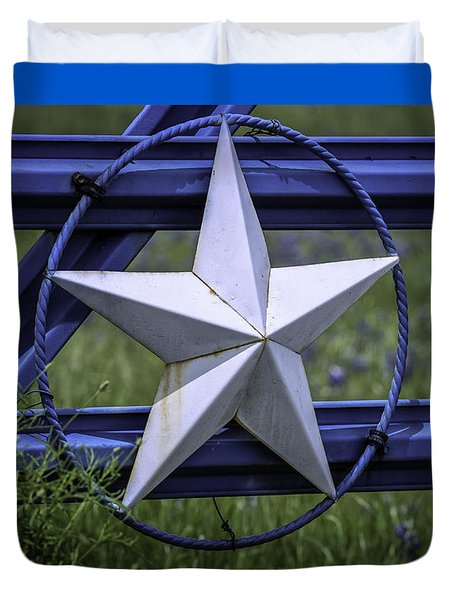 Star Of Texas Duvet Cover