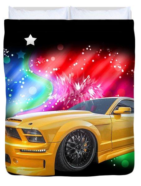 Star Of The Show - Mustang Gtr Duvet Cover