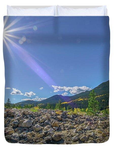 Star Over Creek Bed Rocky Mountain National Park Colorado Duvet Cover