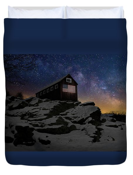 Duvet Cover featuring the photograph Star Spangled Banner by Bill Wakeley