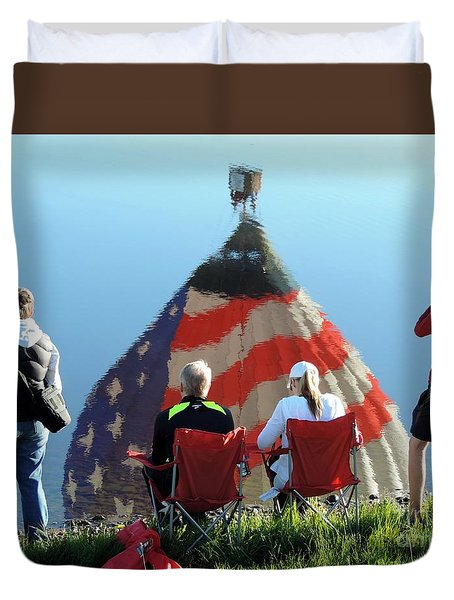 Star Spangled Morning Duvet Cover