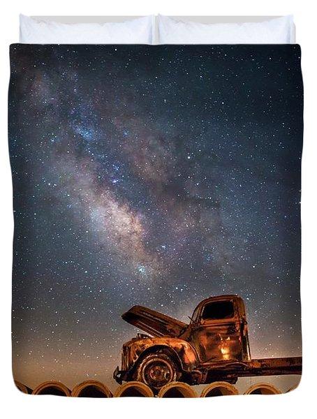 Star Struck Truck  Duvet Cover