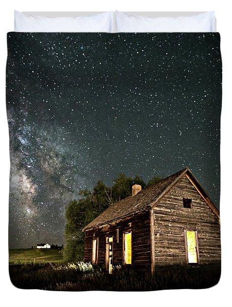 Star Valley Cabin Duvet Cover