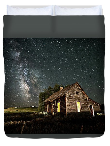 Star Valley Cabin Duvet Cover