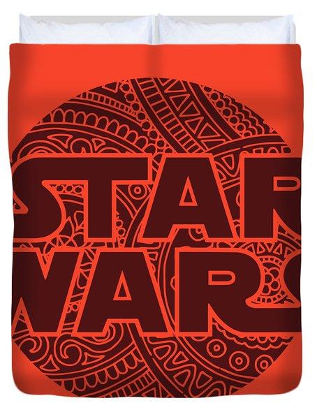 Star Wars Art - Logo - Red 02 Duvet Cover