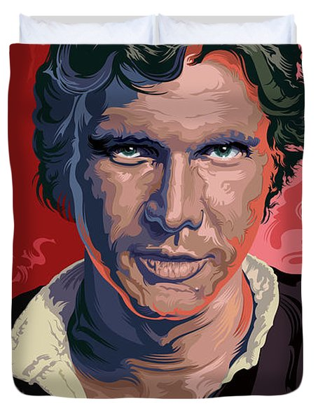 Star Wars Han Solo Pop Art Portrait Duvet Cover