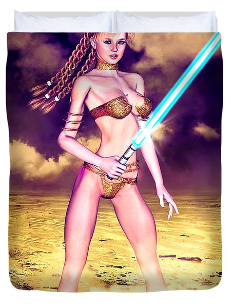Star Wars Inspired Fantasy Pin-up Girl Duvet Cover