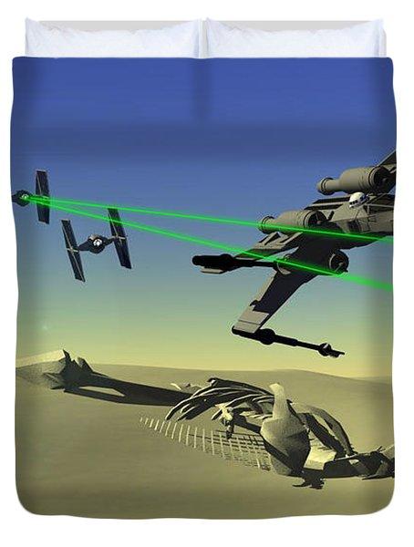 Star Wars Duvet Cover by Michael Greenaway