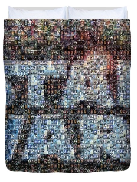 Star Wars Posters Mosaic Duvet Cover by Paul Van Scott