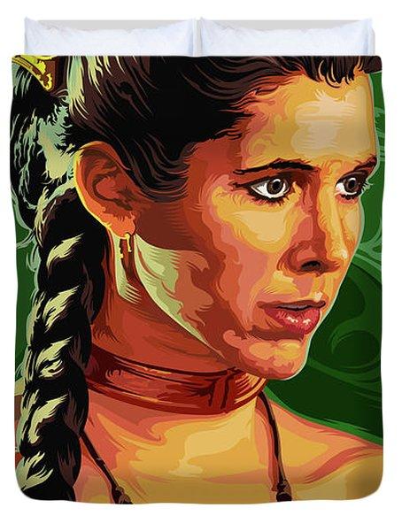 Star Wars Princess Leia Pop Art Portrait Duvet Cover