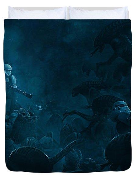 Star Wars Vs Aliens 1 Duvet Cover
