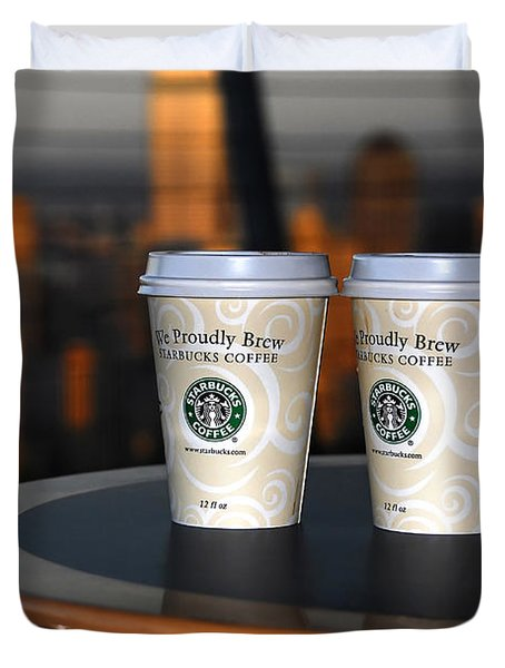 Starbucks At The Top Duvet Cover by David Lee Thompson