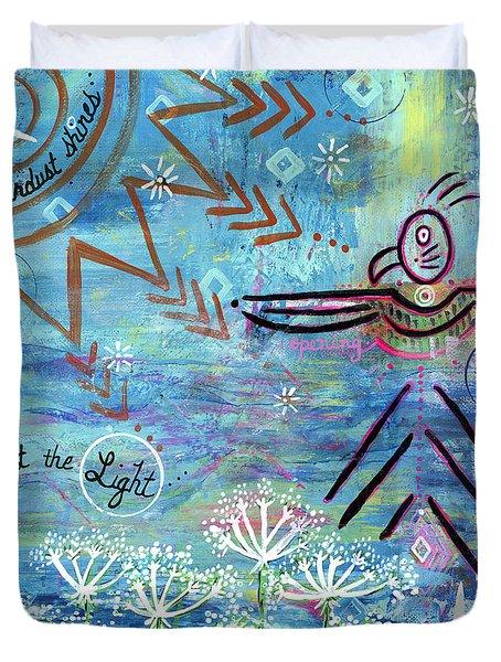 Stardust Shines Duvet Cover