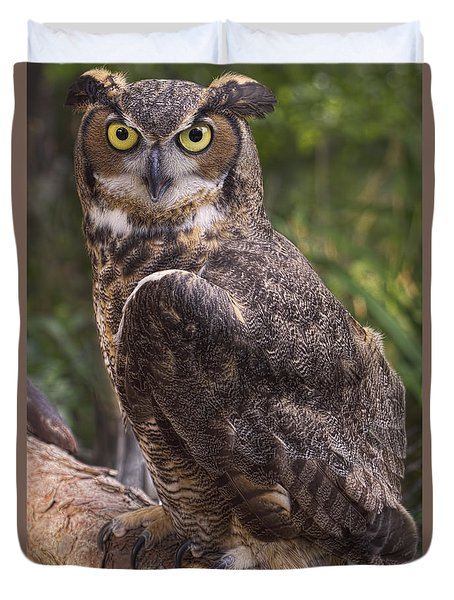 Duvet Cover featuring the photograph Stare Me Down Baby by Cheri McEachin