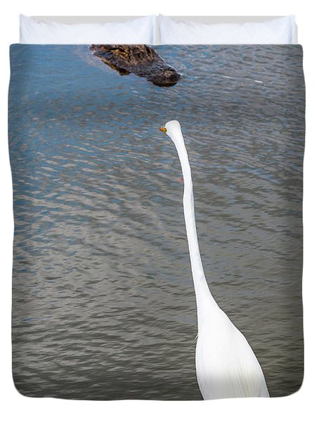 Staredown At Hunting Beach State Park - March 31, 2017 Duvet Cover