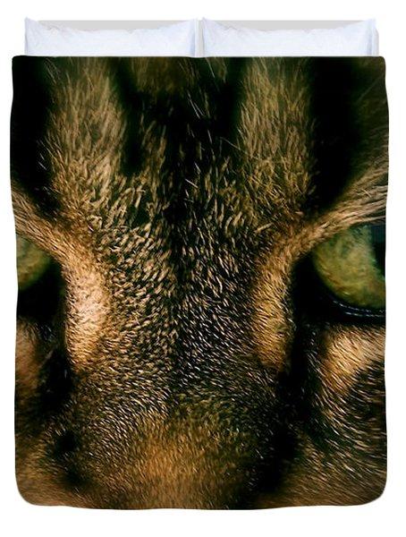 Staredown Duvet Cover by Sue Stefanowicz