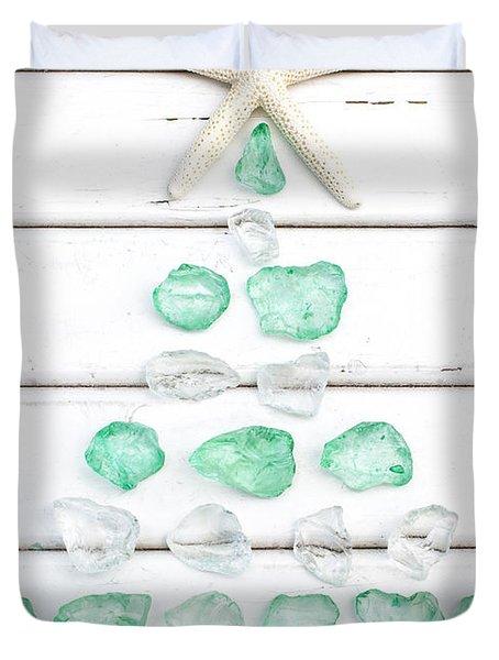 Starfish Christmas Tree Duvet Cover