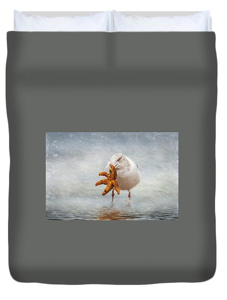 Starfish For Dinner Duvet Cover