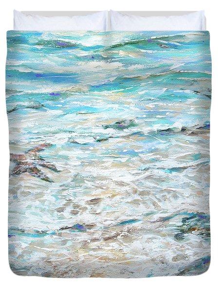 Starfish Under Shallows Duvet Cover