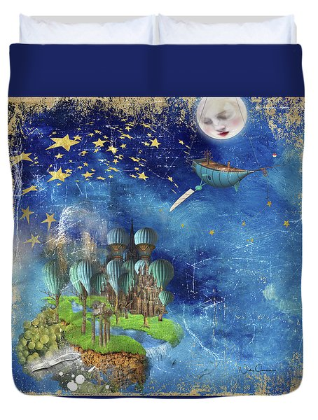 Starfishing In A Mystical Land Duvet Cover