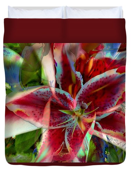 Duvet Cover featuring the photograph Stargazer In Abstract by Carolyn Repka