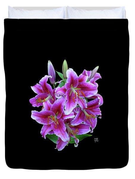 Stargazer Lily Cutout Duvet Cover