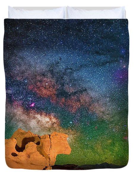 Stargazing Bull Duvet Cover