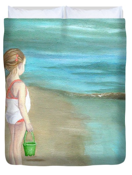 Staring At The Sea Duvet Cover