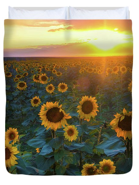 Staring Into The Sun Duvet Cover