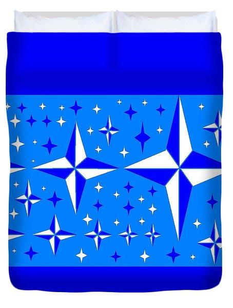 Starlight 9 Duvet Cover by Linda Velasquez