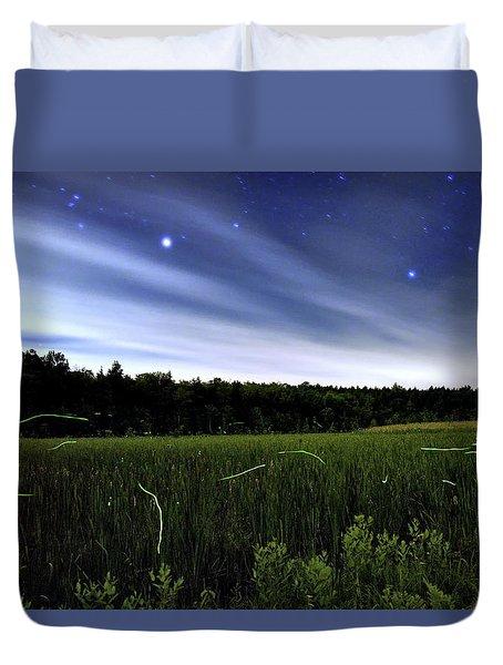 Starlight And Fireflies Duvet Cover