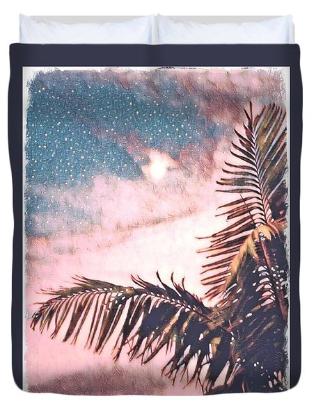Starlight Palm Duvet Cover