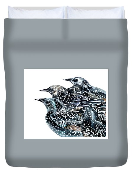 Starlings Duvet Cover by Marie Burke