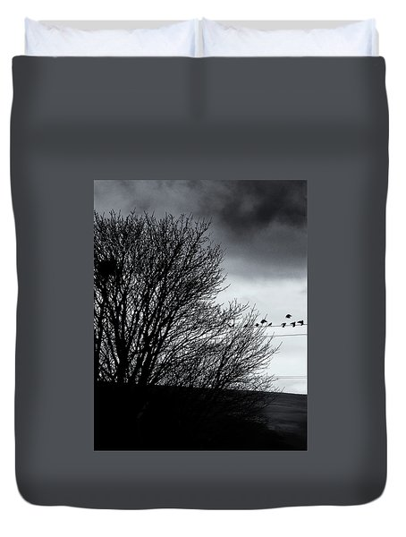 Starlings Roost Duvet Cover by Philip Openshaw