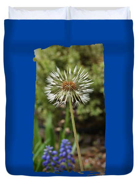 Duvet Cover featuring the photograph Starry Dandelion by Margie Avellino