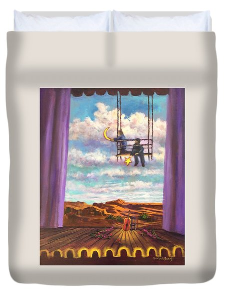 Starry Day Duvet Cover by Randy Burns