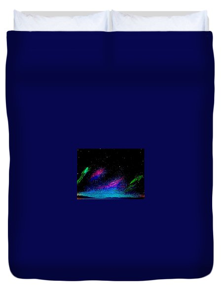 Duvet Cover featuring the painting Starry Night 2 by Scott Wilmot