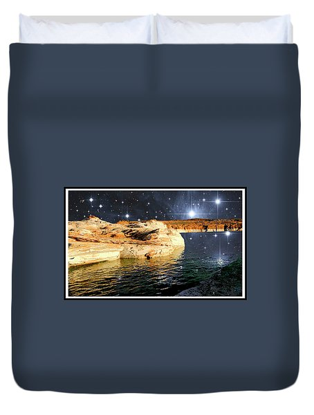Starry Night Fantasy, Lake Powell, Arizona Duvet Cover