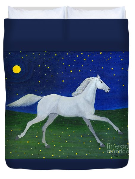 Starry Night In August Duvet Cover by Anna Folkartanna Maciejewska-Dyba