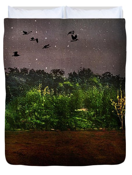 Starry Night In Littlestown, Pennsylvania Duvet Cover