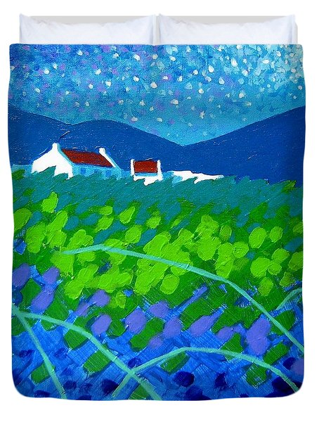 Starry Night In Wicklow Duvet Cover by John  Nolan