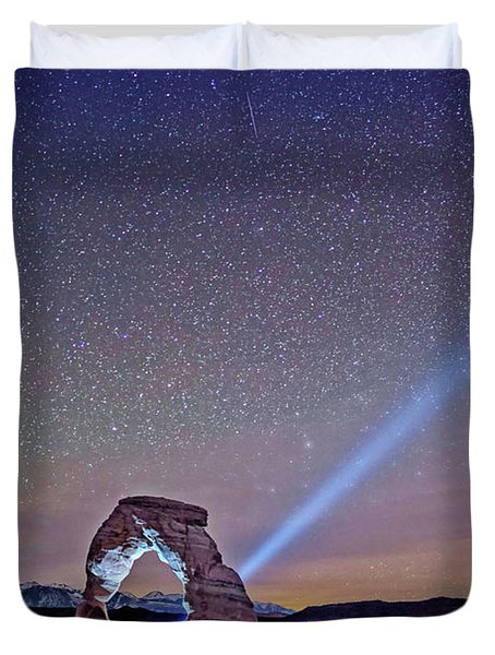 Starry Night Pointer Duvet Cover